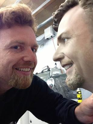 Steve Cory with 3D Scanned Head