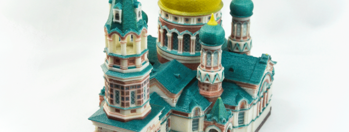 Church printed on ProJet 4500