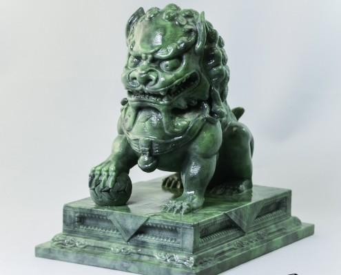 Guardian Lion Statue - ProJet 660Pro - Objex Unlimited